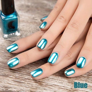 Long-Lasting Glossy Nail Polish - Blue