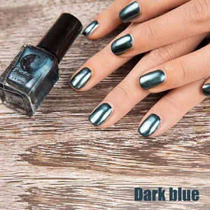 Long-Lasting Glossy Nail Polish - dark blue