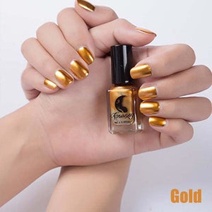 Long-Lasting Glossy Nail Polish - gold