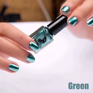 Long-Lasting Glossy Nail Polish - green