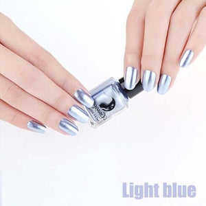 Long-Lasting Glossy Nail Polish - light blue