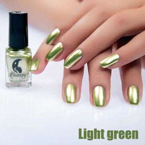 Long-Lasting Glossy Nail Polish - light green