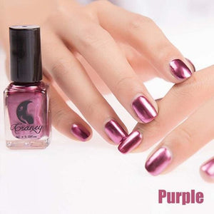 Long-Lasting Glossy Nail Polish - purple