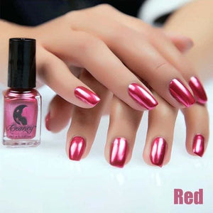 Long-Lasting Glossy Nail Polish - red
