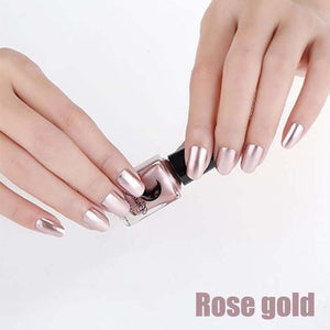 Long-Lasting Glossy Nail Polish - rose gold