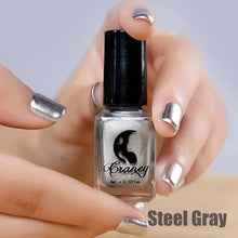 Load image into Gallery viewer, Long-Lasting Glossy Nail Polish - steel gray