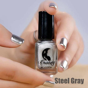 Long-Lasting Glossy Nail Polish - steel gray