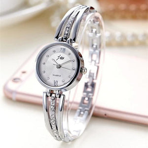 Luxury Ladies Simple Watch - SILVER - Wristwatches