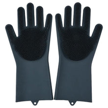Load image into Gallery viewer, Magic Silicone Washing Gloves - black