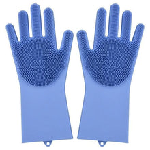 Load image into Gallery viewer, Magic Silicone Washing Gloves - blue