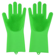 Load image into Gallery viewer, Magic Silicone Washing Gloves - Grass Green