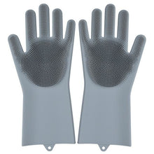 Load image into Gallery viewer, Magic Silicone Washing Gloves - grey