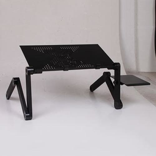 Portable Folding Computer Desk With Cooling Fan - HH3468LFBL