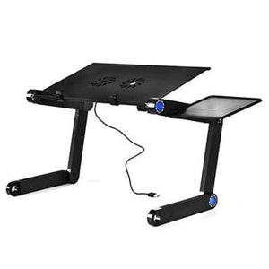 Portable Folding Computer Desk With Cooling Fan - HH3468SDBU