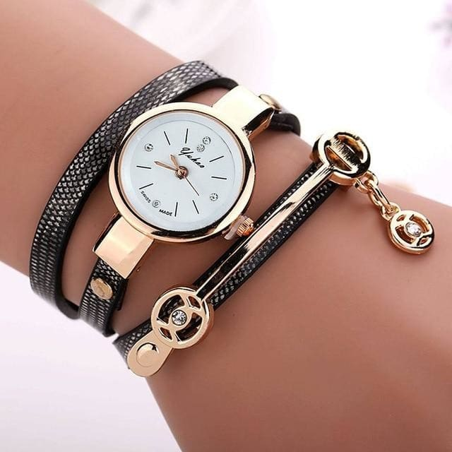 Pretty Lady Watch/bracelet - Black - Bracelets