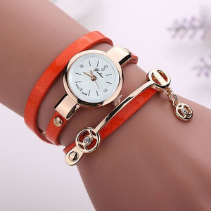 Pretty Lady Watch/bracelet - Orange - Bracelets