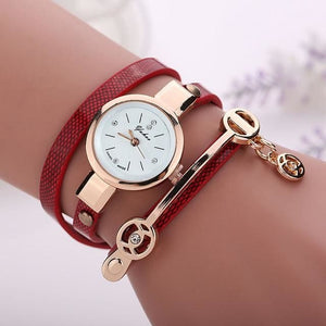 Pretty Lady Watch/bracelet - Red - Bracelets