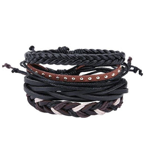 Simple Handmade Leather Bracelets - 09 - Bracelets