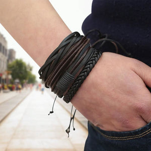 Simple Handmade Leather Bracelets - Bracelets