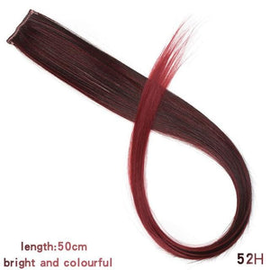 Single Clip In One Piece Hair Extensions - 52H / 24inches
