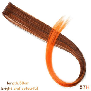 Single Clip In One Piece Hair Extensions - 57H / 24inches