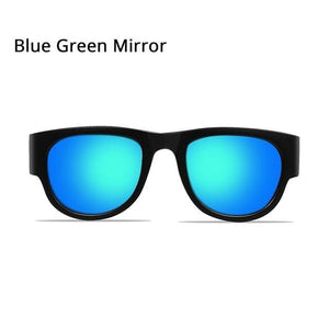 SlapOn Polarized Sunglasses - Polarized Blue Green / Black