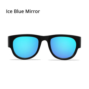 SlapOn Polarized Sunglasses - Polarized Ice Blue / Black
