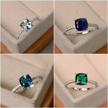 Load image into Gallery viewer, Square Crystal Ring with Different Color and Sizes