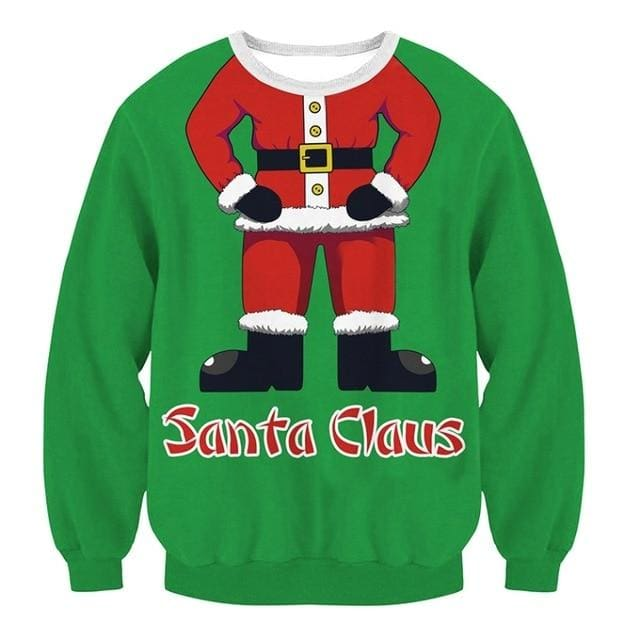 Ugly Christmas Sweater Unisex / Funny Sweaters - 002 / L