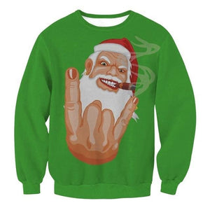 Ugly Christmas Sweater Unisex / Funny Sweaters - 009 / L