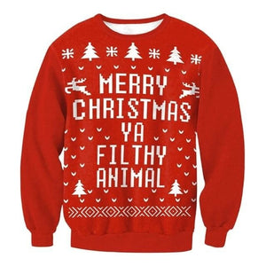 Ugly Christmas Sweater Unisex / Funny Sweaters - 014 / L