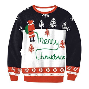 Ugly Christmas Sweater Unisex / Funny Sweaters - 015 / L