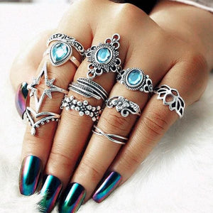 Vintage Knuckle Rings - Set11 4-star - Rings