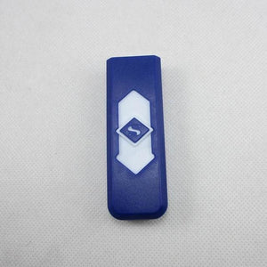Windproof Flameless USB Windproof Charging Lighter - blue white