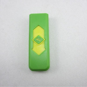 Windproof Flameless USB Windproof Charging Lighter - green yellow