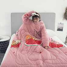 Load image into Gallery viewer, Winter Lazy Quilt with Sleeves - watermelon / 120X160CM