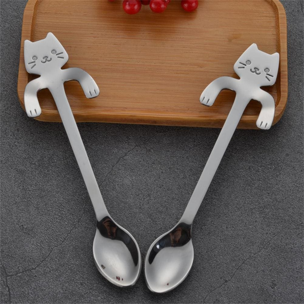 Cute Stainless Steel with Cat Hanging Handle