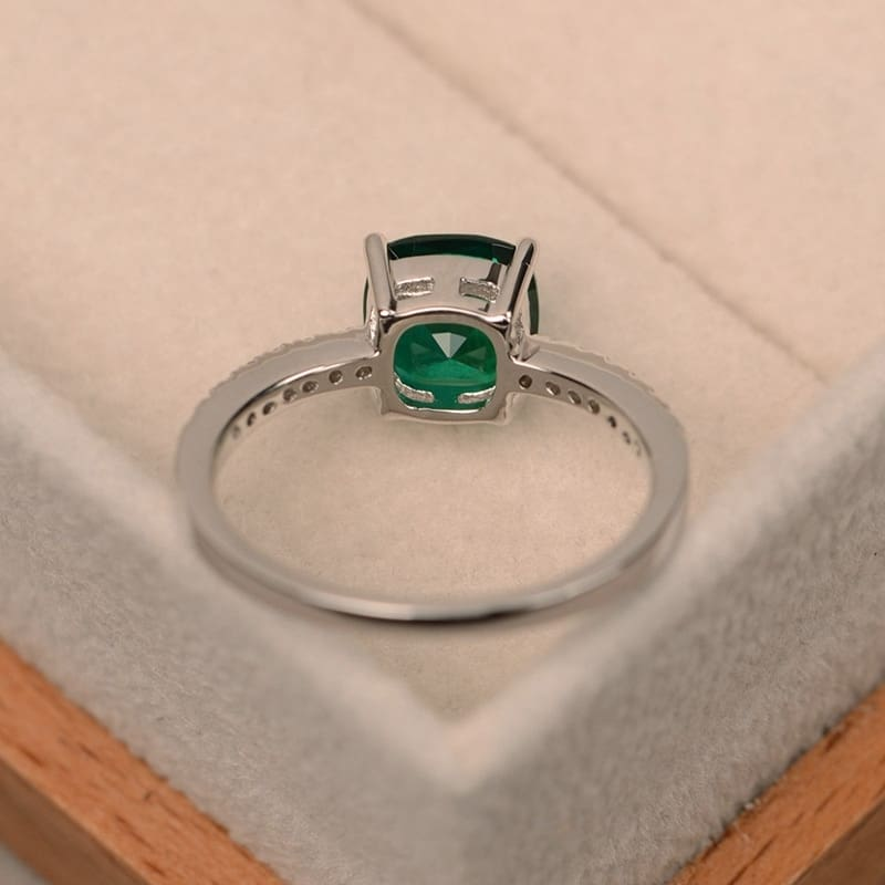 Square Crystal Ring with Different Color and Sizes