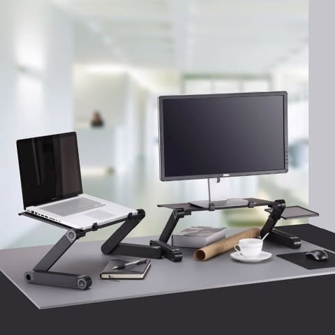 Portable Folding Computer Desk With Cooling Fan