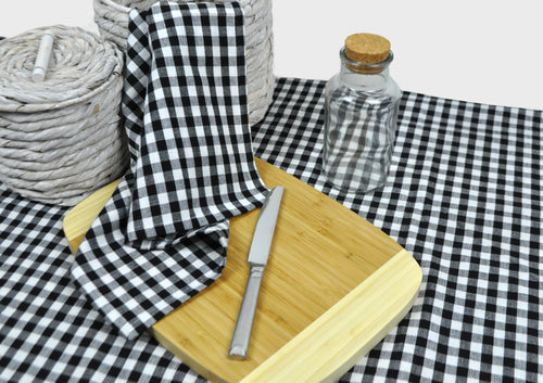 RANS Gingham Checked Tablecloths 5cm Hemming 100% Cotton