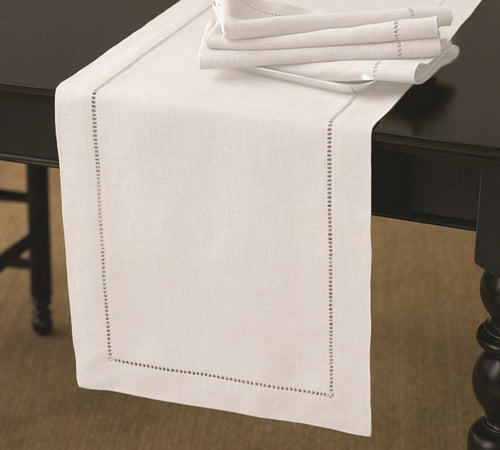 RANS Elegant Hemstitch Table Runners 100% Cotton