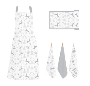 RANS Christmas Reindeer Aprons With Pocket