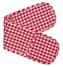 Load image into Gallery viewer, Gingham Double Mitts 100% Cotton by RANS