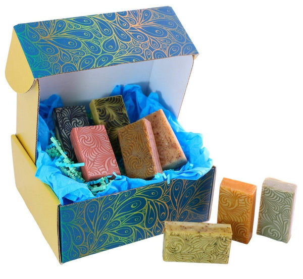 6 Shea Butter Soap Sampler Gift Box - Gift Boxes - Men - Nailah's Shea