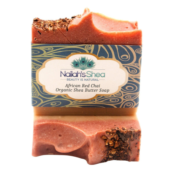 African Red Chai Shea Butter Soap - Shea Butter Soap Hand-Crafted - Nailah's Shea
