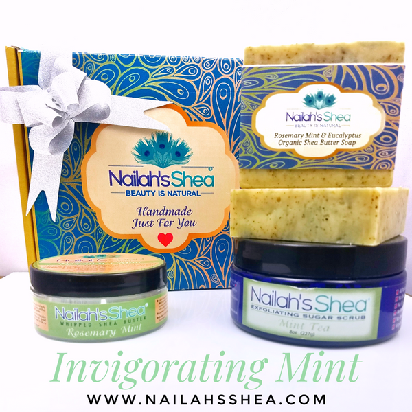 Gift Box: Invigorating Mint - Gift Boxes - Nailah's Shea