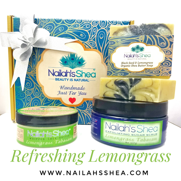 Gift Box: Refreshing Lemongrass - Gift Boxes - Nailah's Shea