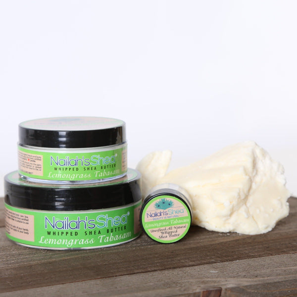 Lemongrass Whipped Shea Body Butter - Mens Butters - Nailah's Shea