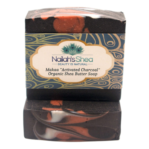 Makaa (Activated Charcoal) Shea Butter Soap - Shea Butter Soap Hand-Crafted - Men - Nailah's Shea