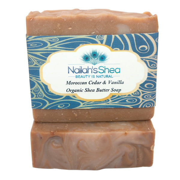 Moroccan Cedar and Vanilla Shea Butter Soap - Shea Butter Soap Hand-Crafted - Men - Nailah's Shea